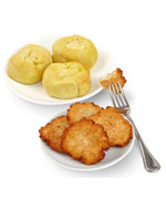 Potato Latkes, Knishes and Soup