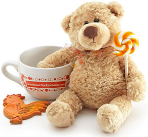 Chicken Soup Cup with Teddy Bear